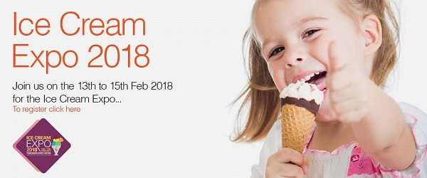 Visit us at the Ice Cream Expo 2018, 13th-15th February at the Yorkshire Event Centre, Harrogate