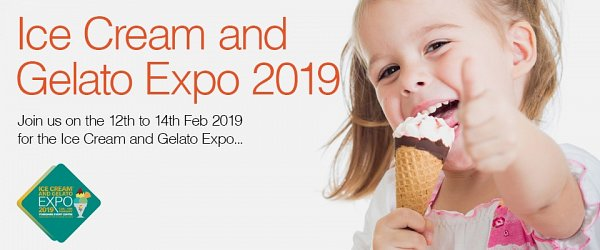 Visit us at the Ice Cream Alliance Expo, 12th to 14th February 2019