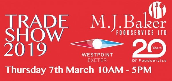 Visit us at the M.J.Baker Foodservice Expo, Thursday 7th March 2019